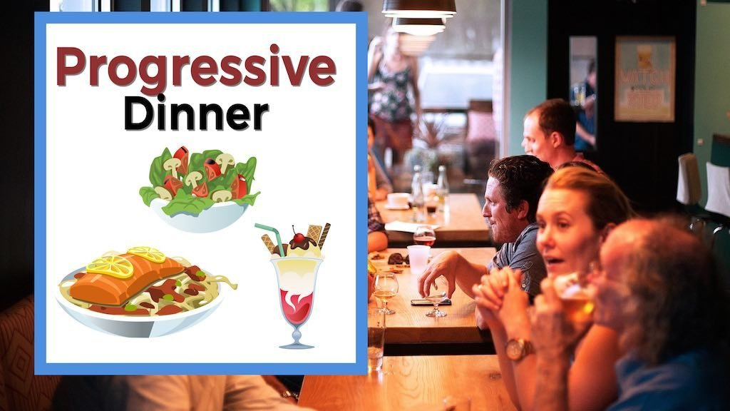 Progressive Dinner group of people in a restaurant