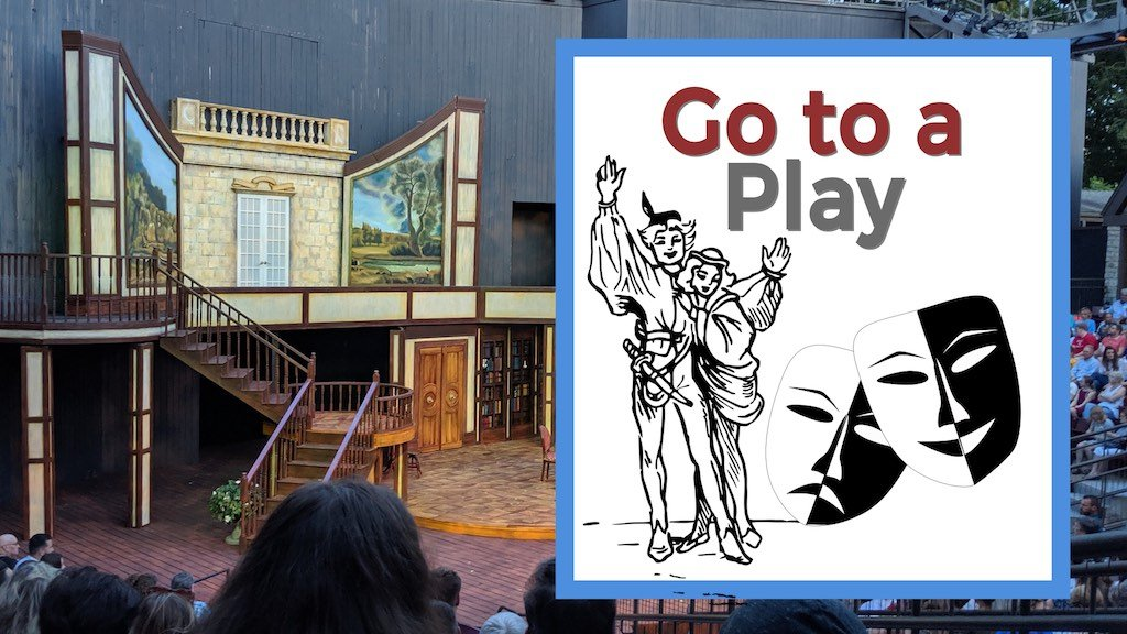Go to a Play Creative Date Idea Theater outside with people