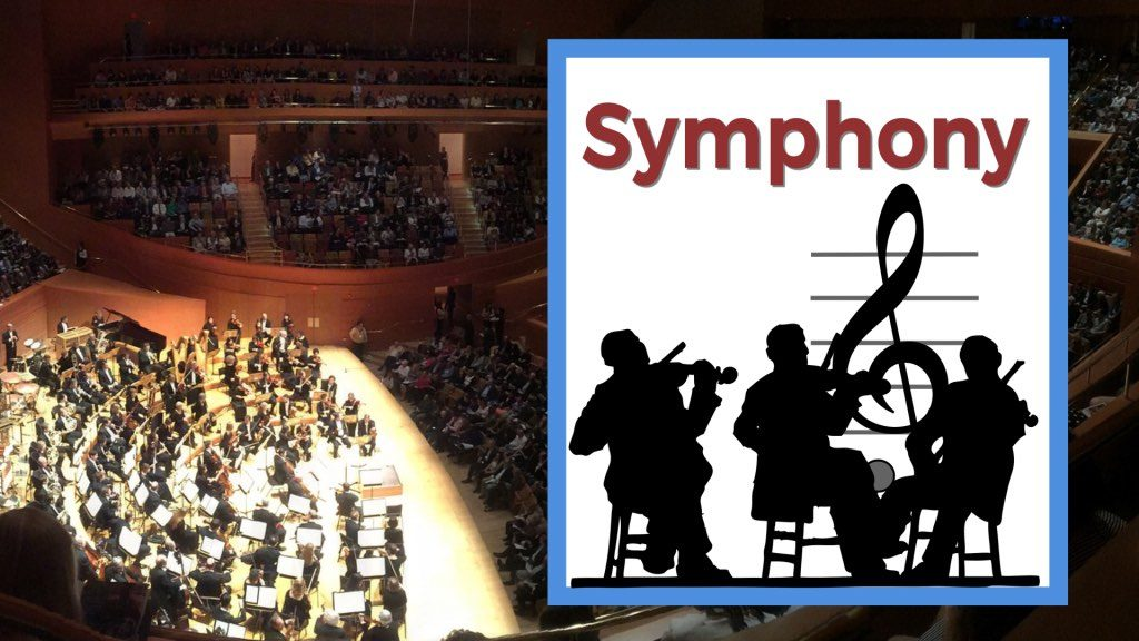 the symphony concert hall filled with people