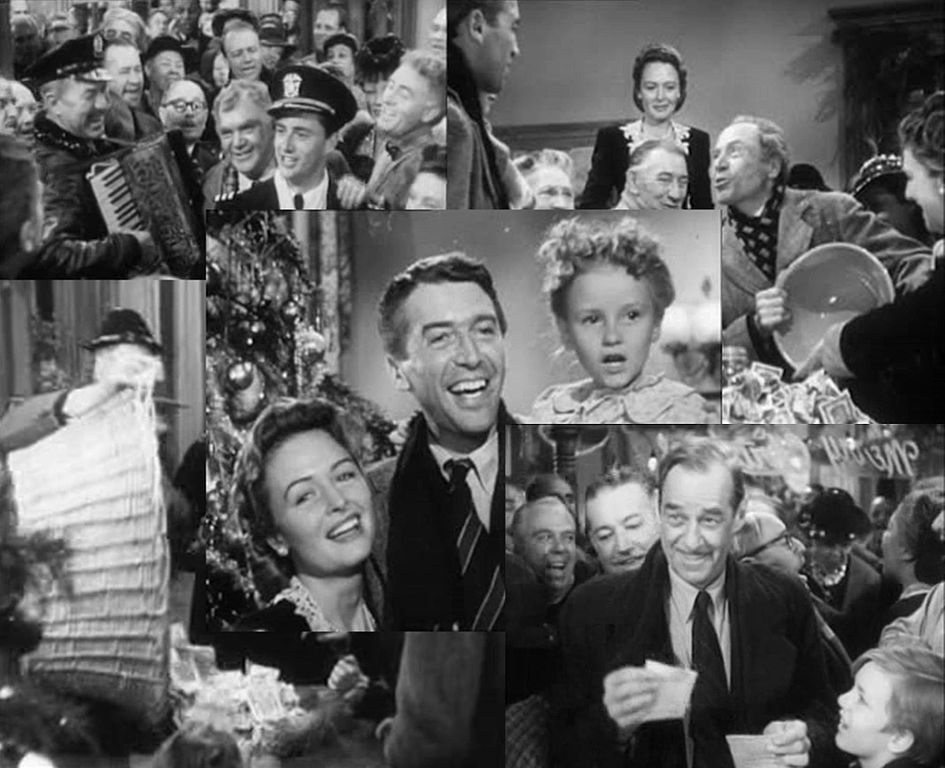 Collage of images from the movie It's a Wonderful Life