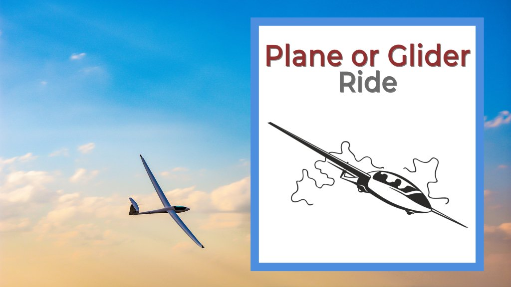 plane or glider ride, glider flying in the clouds