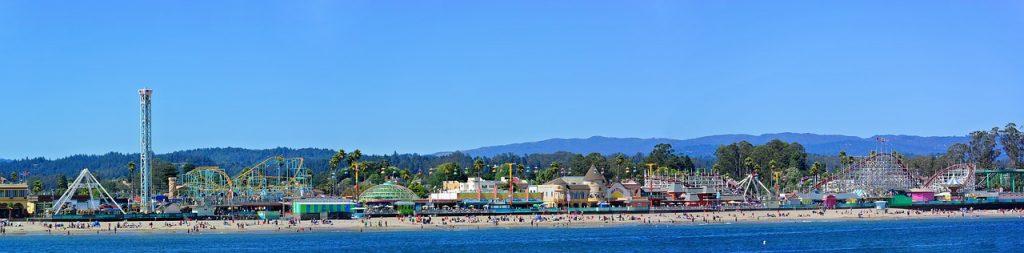 Theme park on the beach