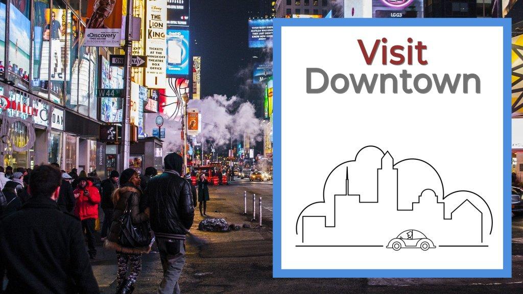 Visit Downtown cheap date idea
