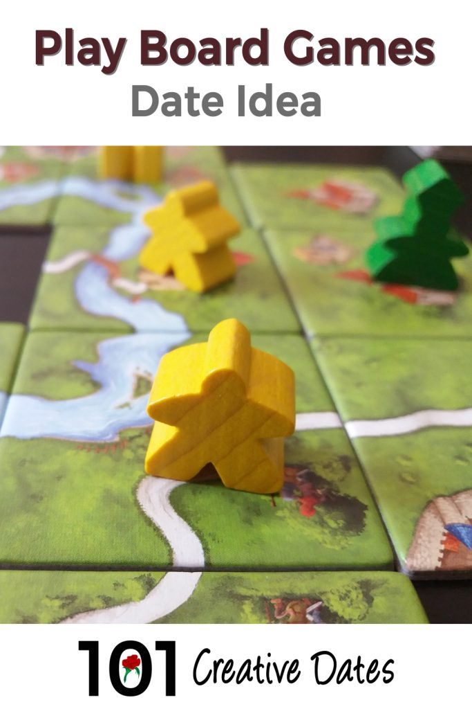 Play board games pin for Pinterest