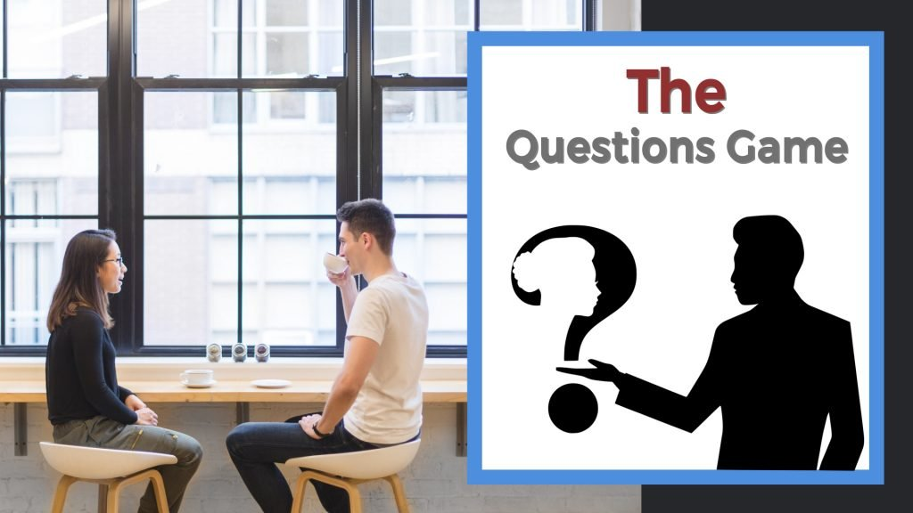 The questions game two people talking
