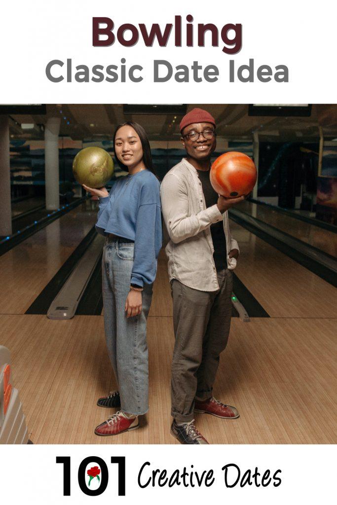 Bowling date idea pin for Pinterest