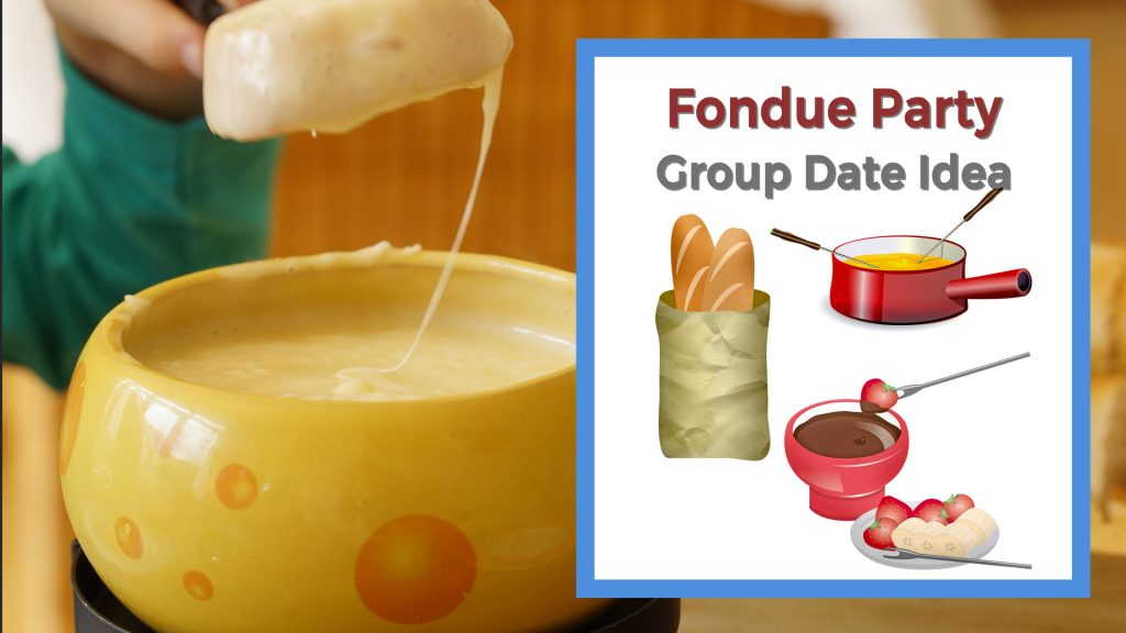 person eating cheese fondue