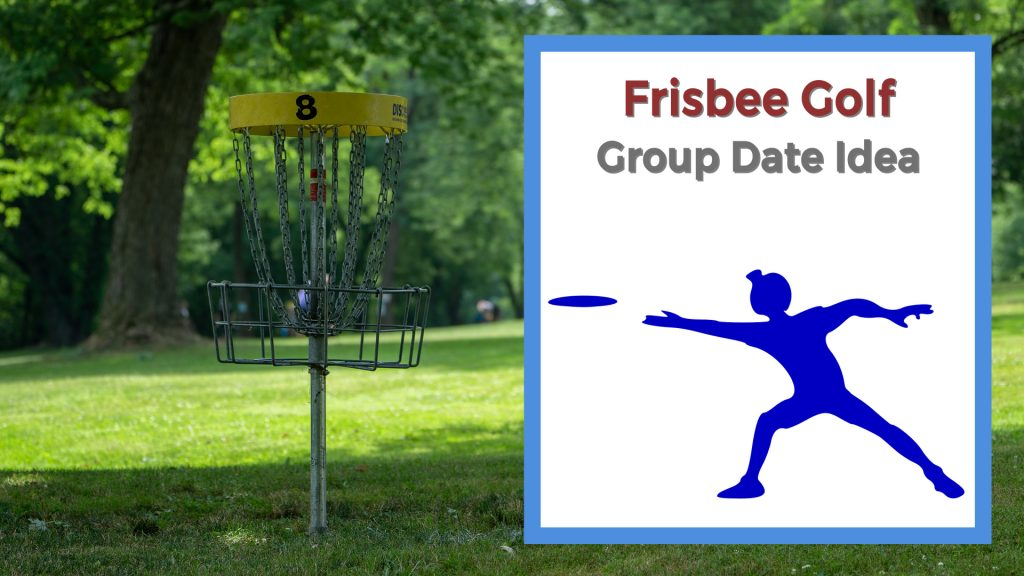 Frisbee golf basket on lawn at park