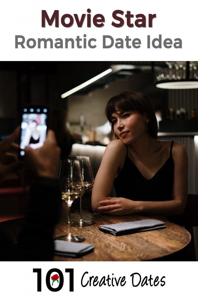 Movie star romantic date idea pin for Pinterest