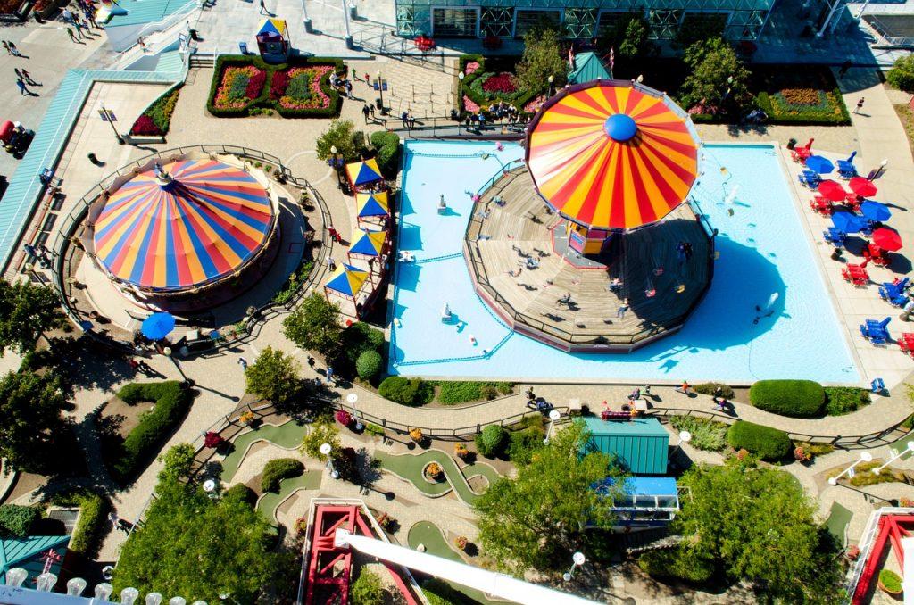 Amusement park for miniature golf.
