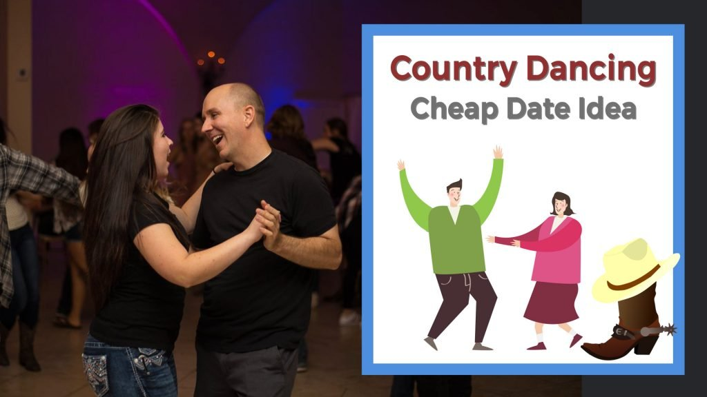 a couple country dancing on a date