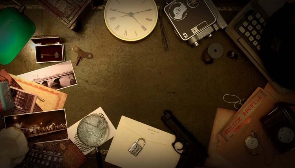 Several clues on a desk