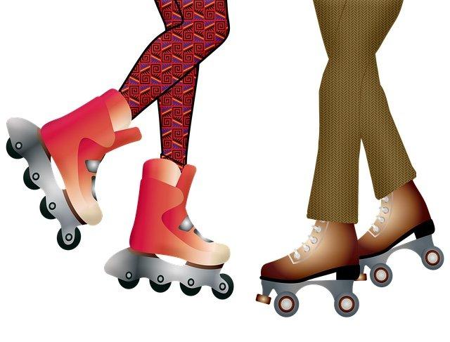 Roller blades and roller skates