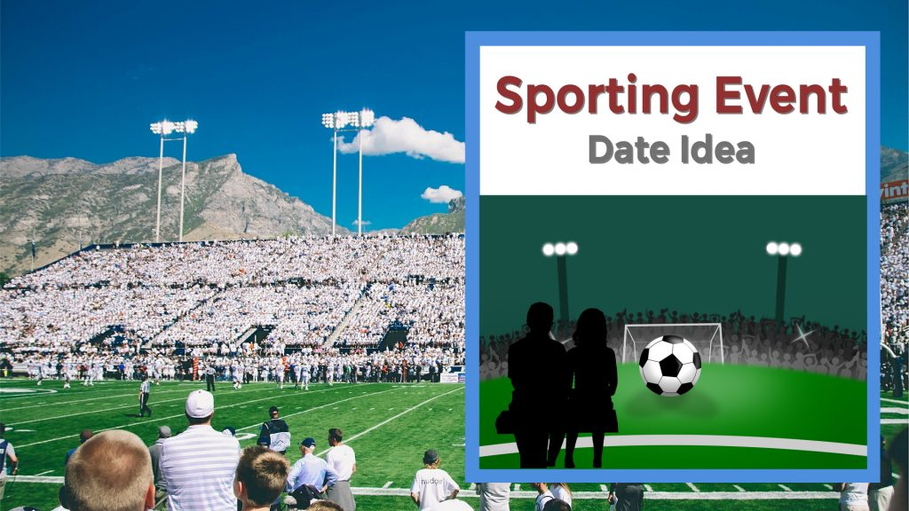 Couple at a sporting event